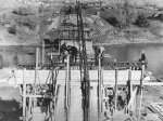 Строительства моста через реку Кинель 1960